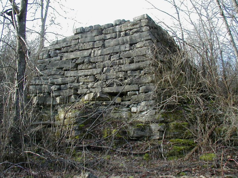 Remains of north end ramp of long barn
