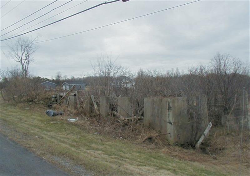 Ruins of an old barn, on Route 12 North