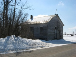 Old schoolhouse, on Buttermilk Flats Road, near180
