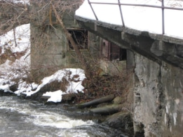 Ruins of old mills in Carthage, NY