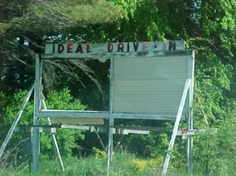 Former Ideal Drive In sign, just south of Canton