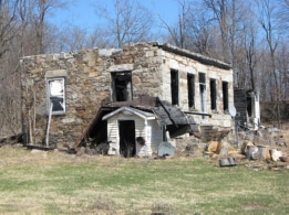 Burned out stone house on Scotch Settlement Road, St. Lawrence County