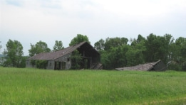 Old barn and building on State Park Road, Point Peninsula